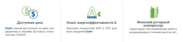 Кондиционеры Lessar Cool+ в Омске