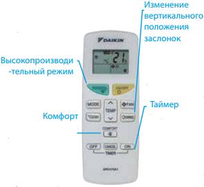 Daikin FTXB-C удобное управление